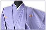 藤色紋付袴